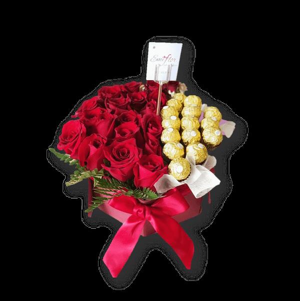 rosas con ferrero