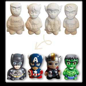 Superhéroes en cerámica para pintar