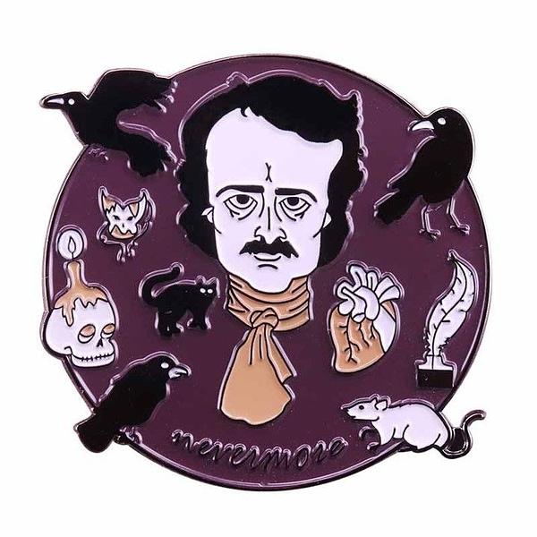 Pin metálico Allan Poe