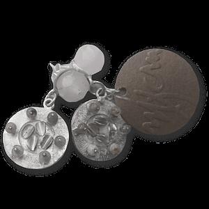 Aretes de plata y cuarzos
