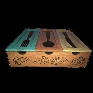Caja madera cubiertos personalizada